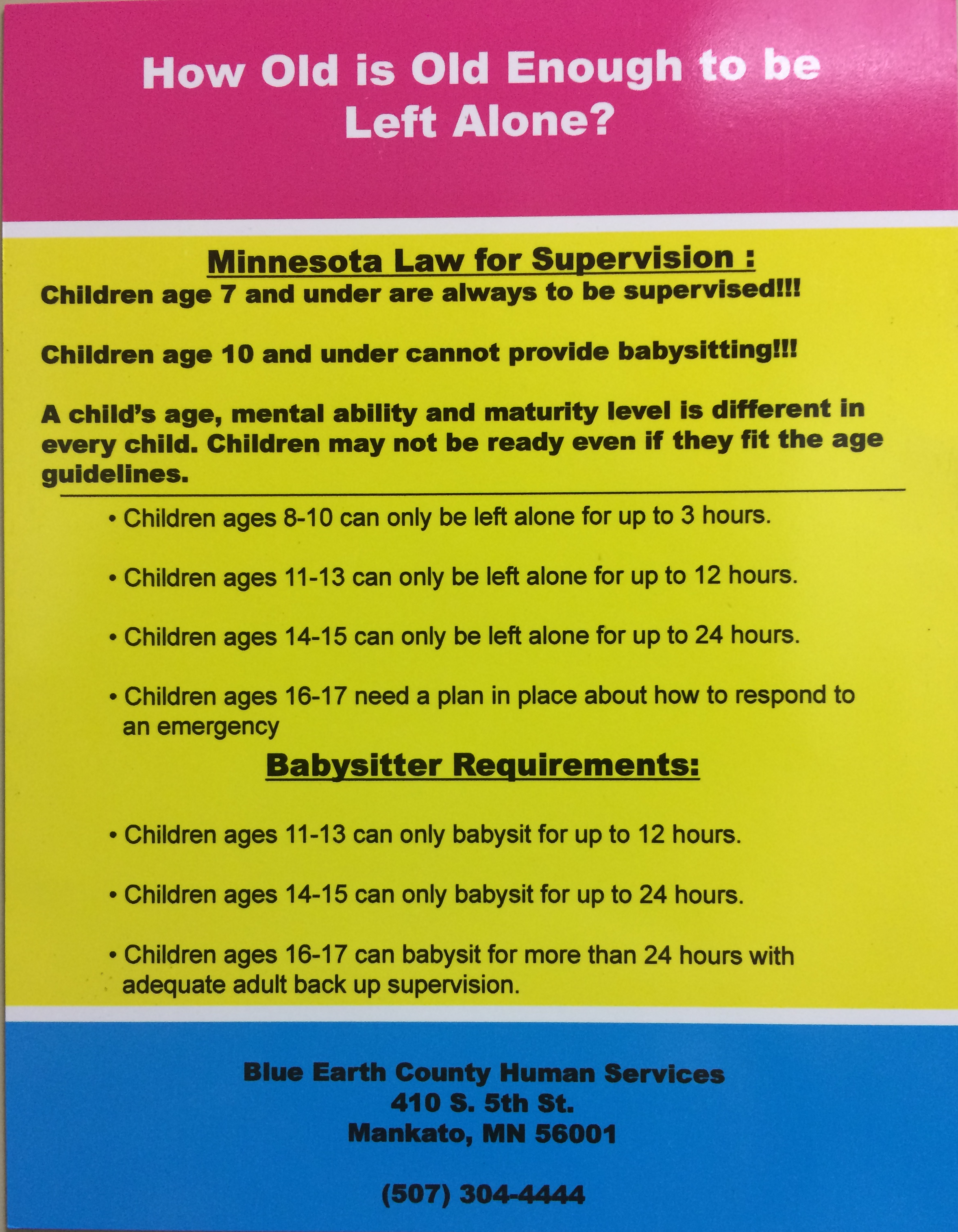 Child Protection / Vulnerable Adult | Blue Earth County, MN