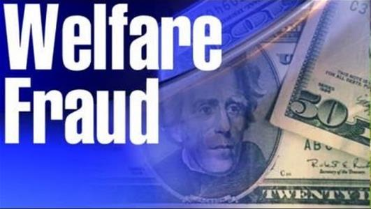 Photo of money with caption welfare fraud