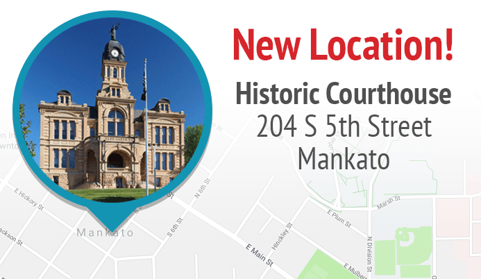 Historic Courthouse pinpointed on map