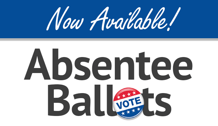 Absentee Ballots now Available