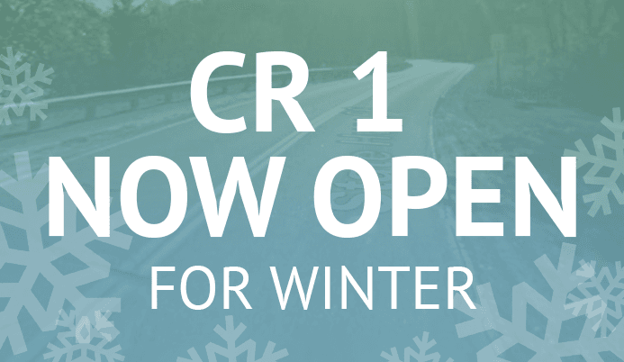 County Road 1 Now Open for Winter