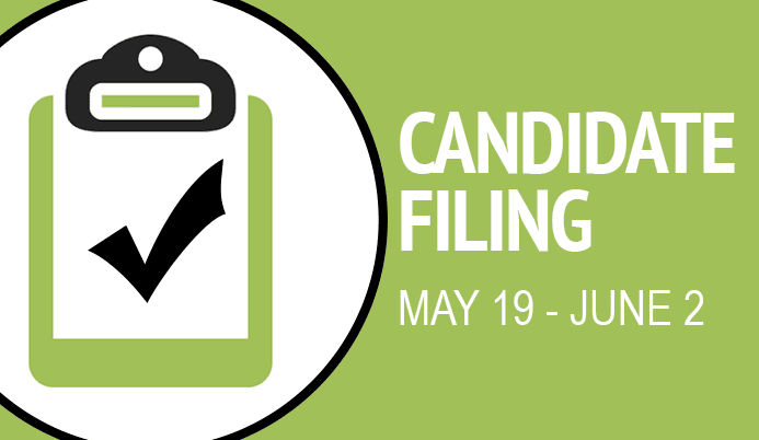 Candidate Filing May 19 - June 2