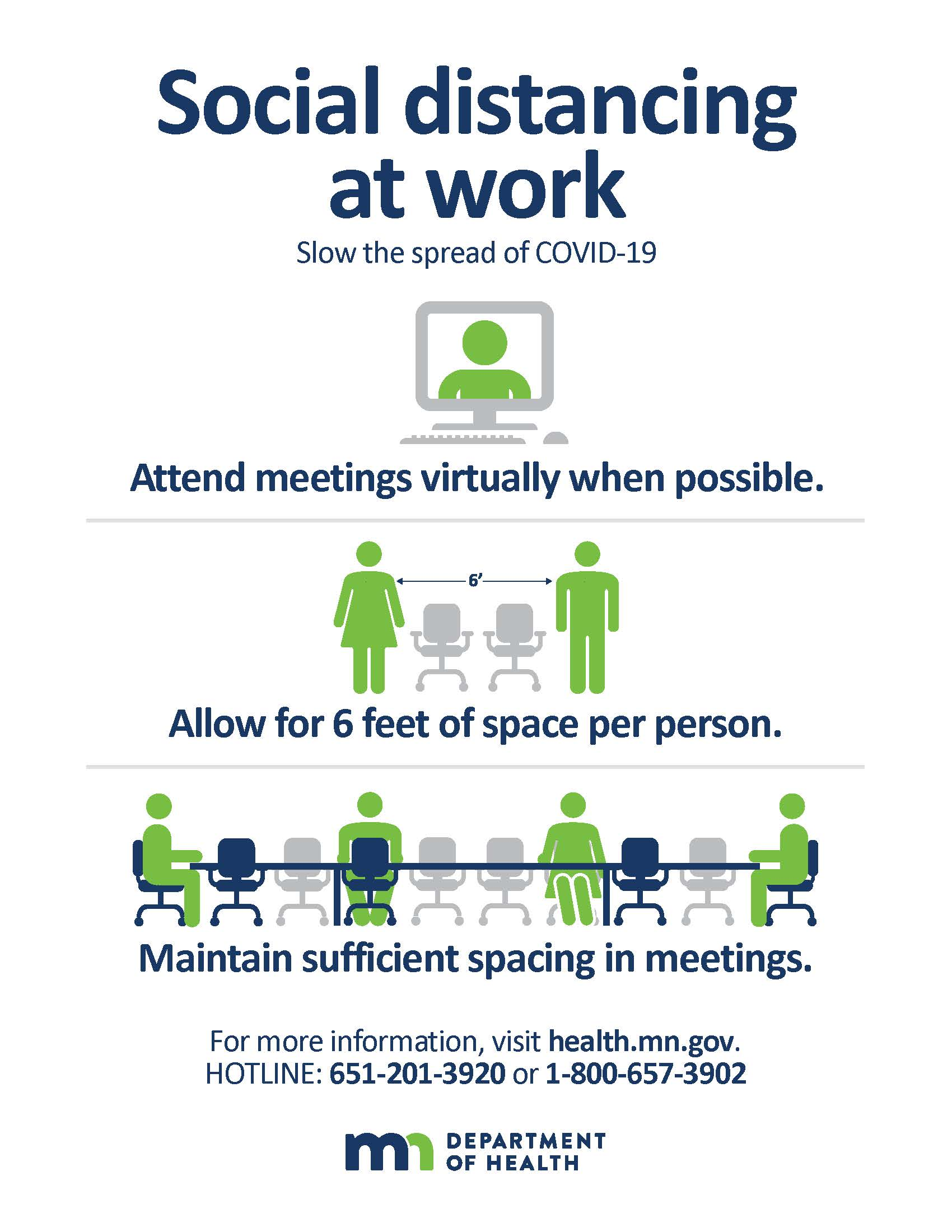 Social Distance at Work Poster