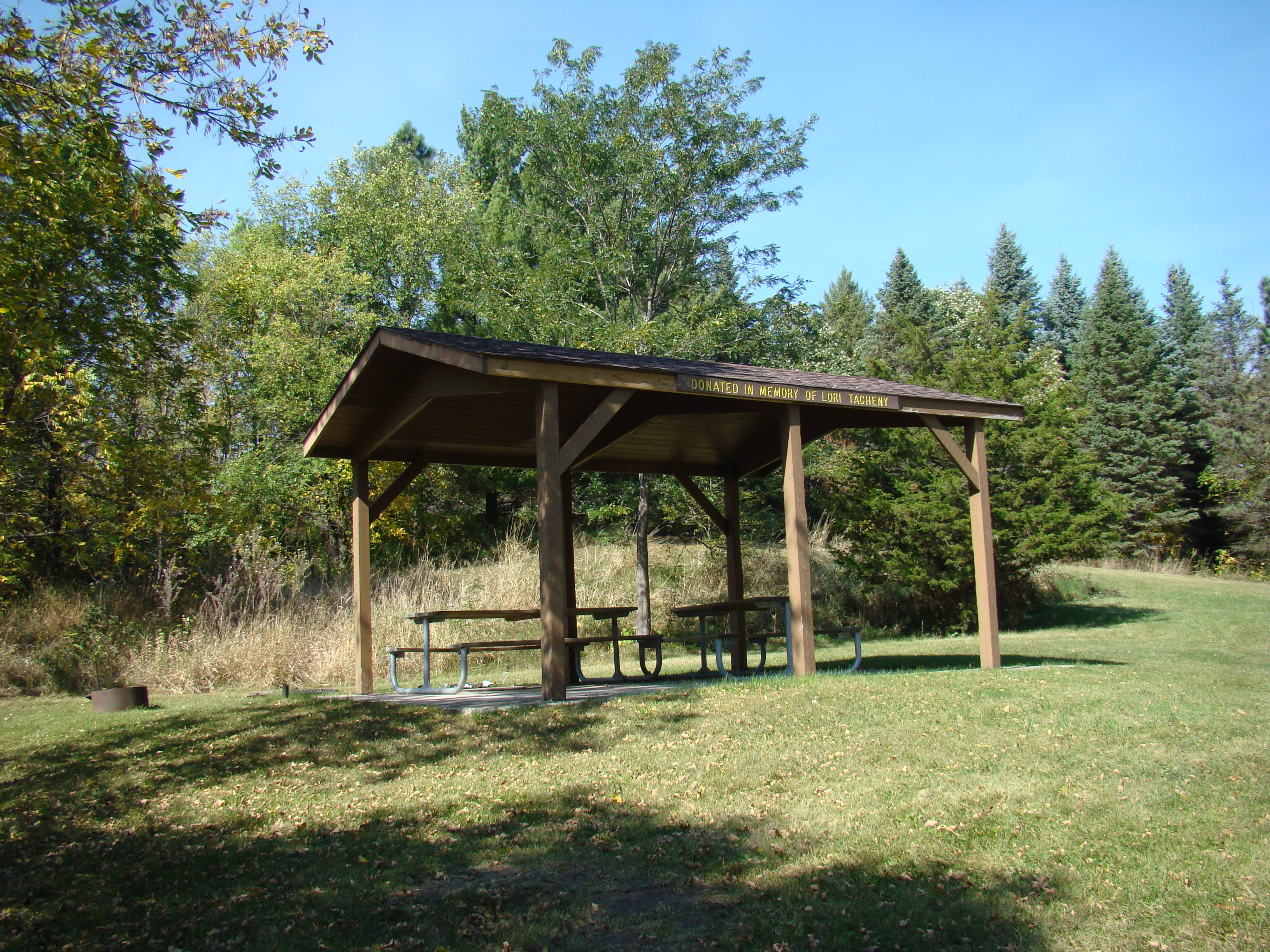 Shelter at Schimek Park.
