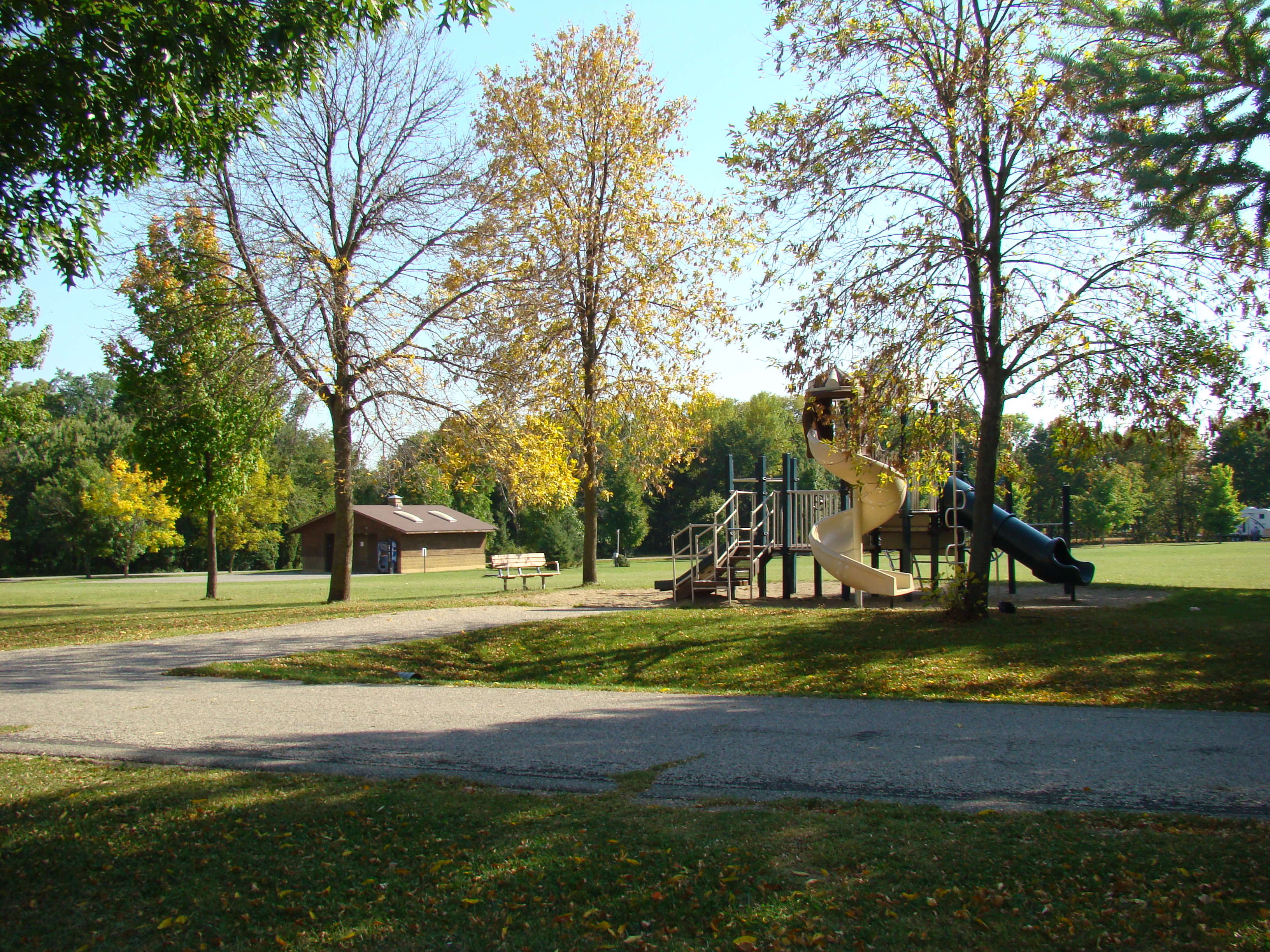 Playground equipment at Bray Park and Campground.