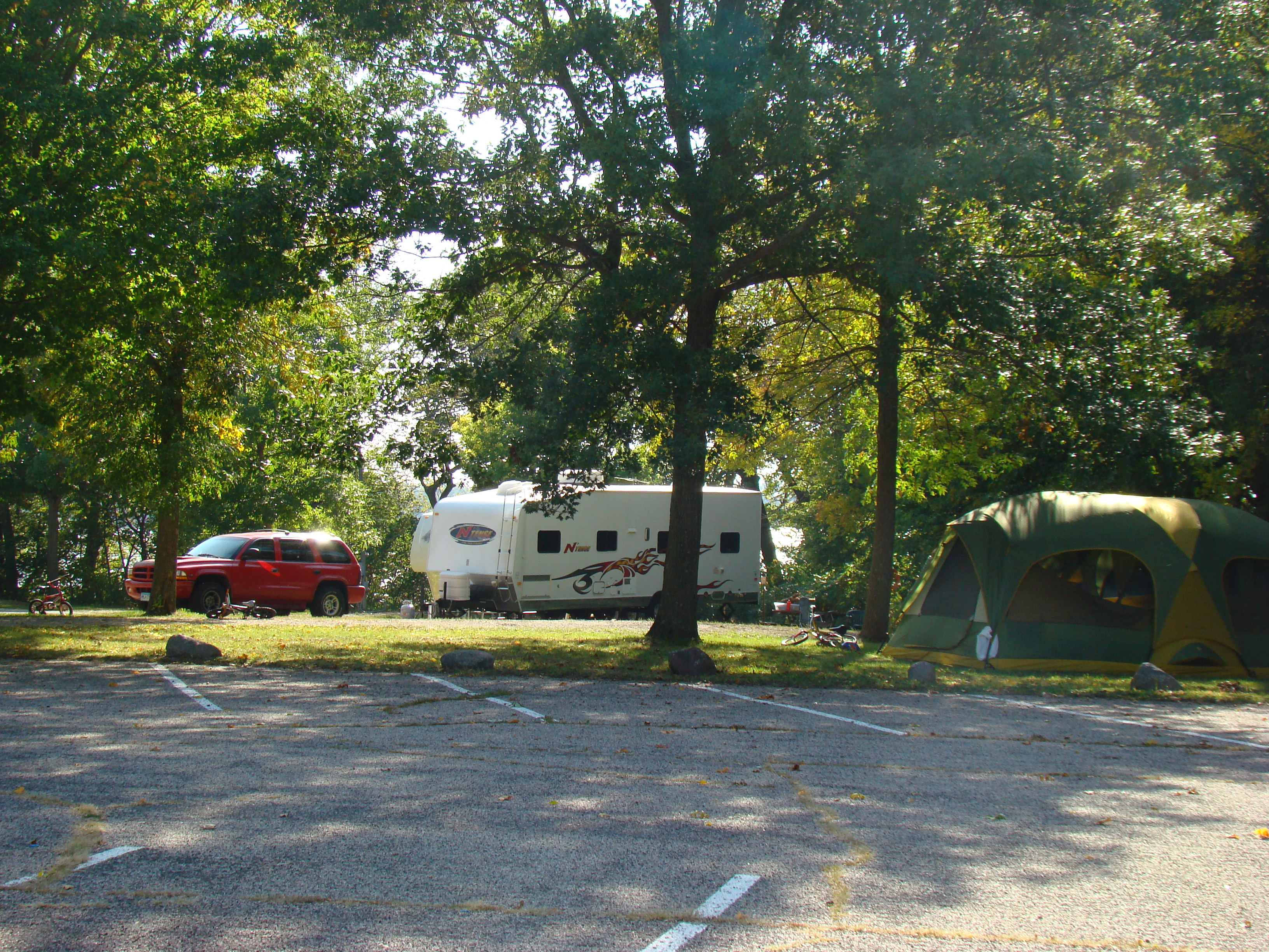Campers at Bray Park on Madison Lake