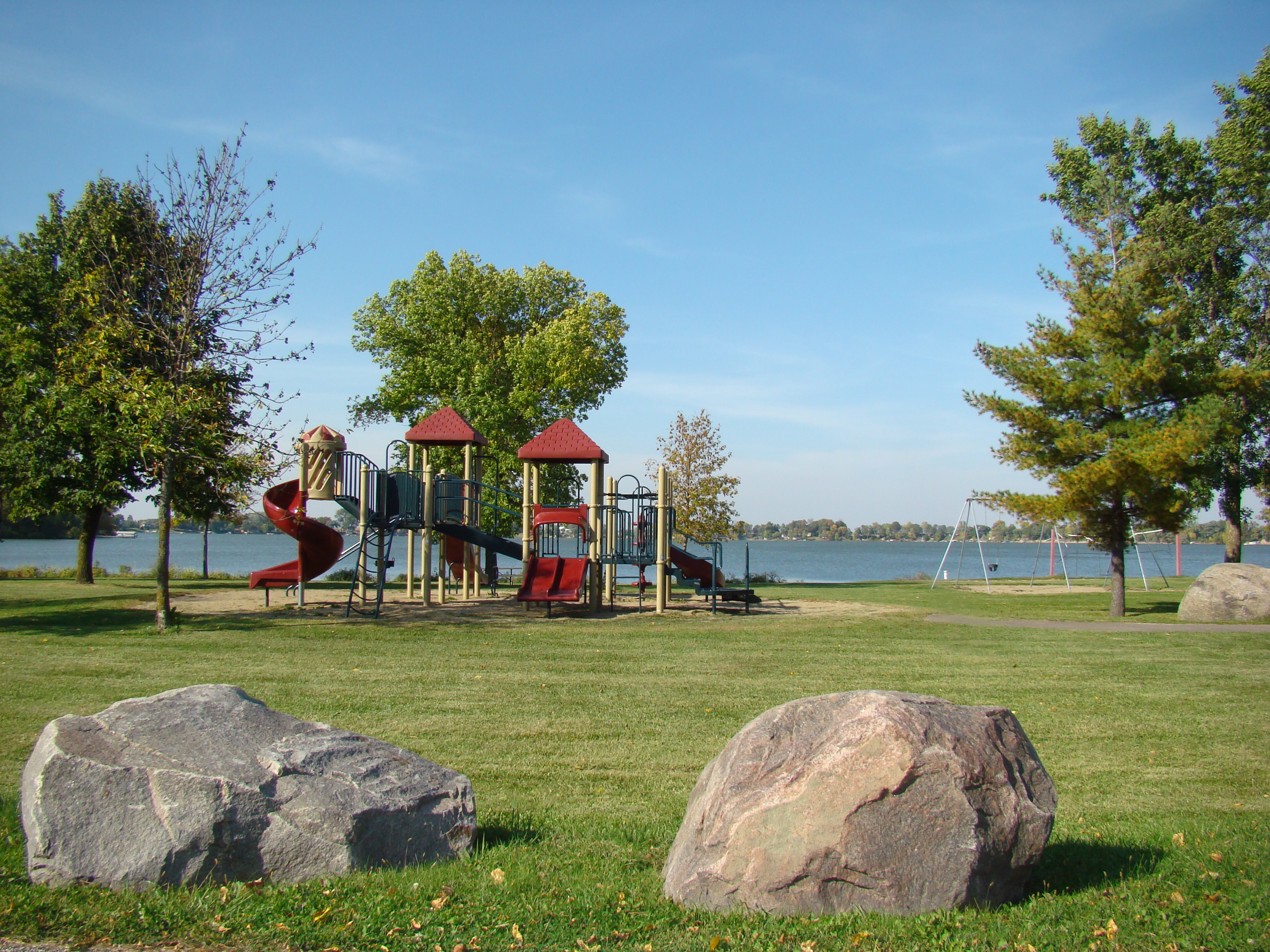 Playground equipment at Duck Lake park.