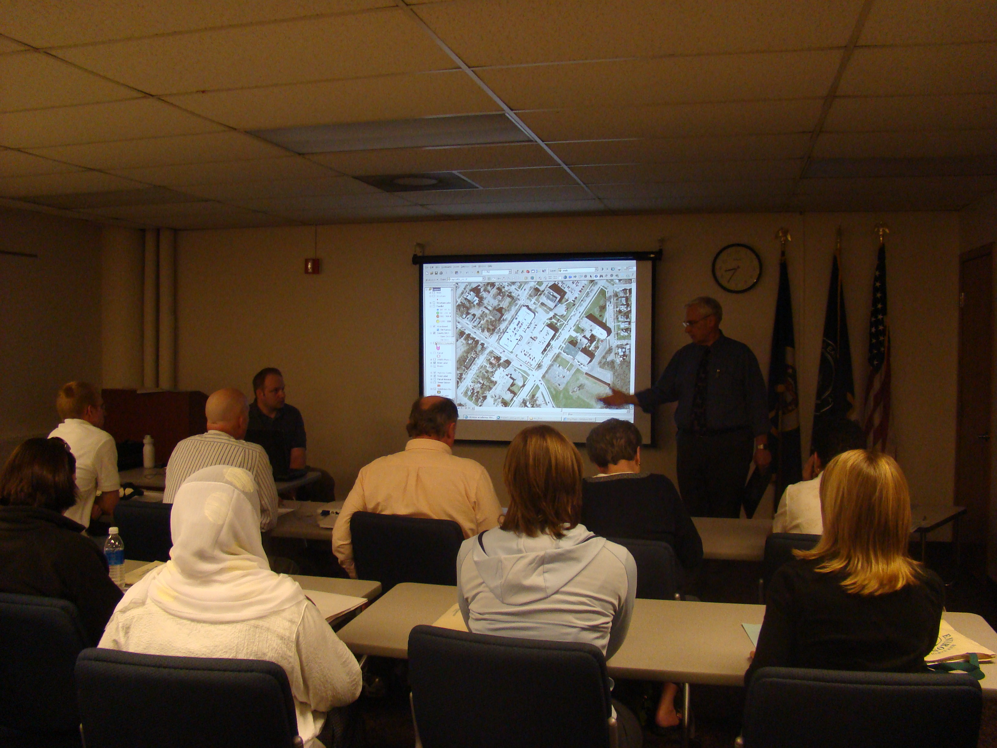 Scott Fichtner, Environmental Services Director presenting at a Citizens Academy session.