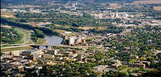 View of Mankato, County Seat